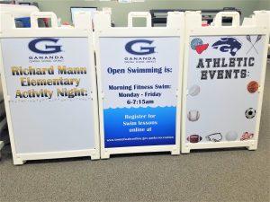 custom a-frame signs set